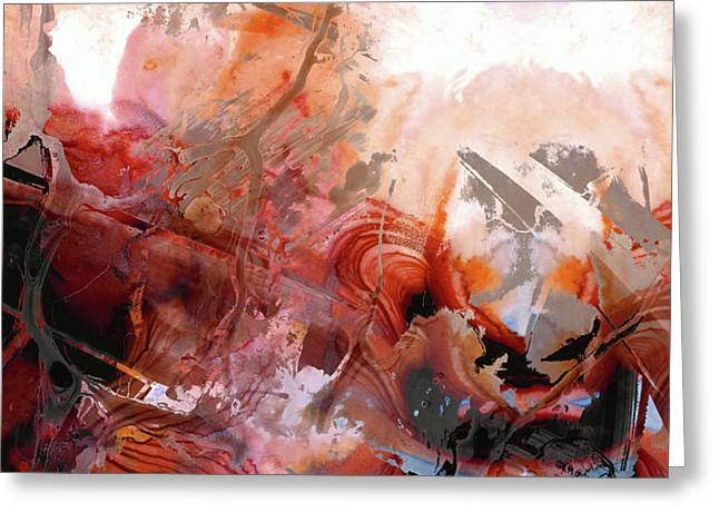 Red Abstract Art - The Vineyard - Sharon Cummings  Greeting Card