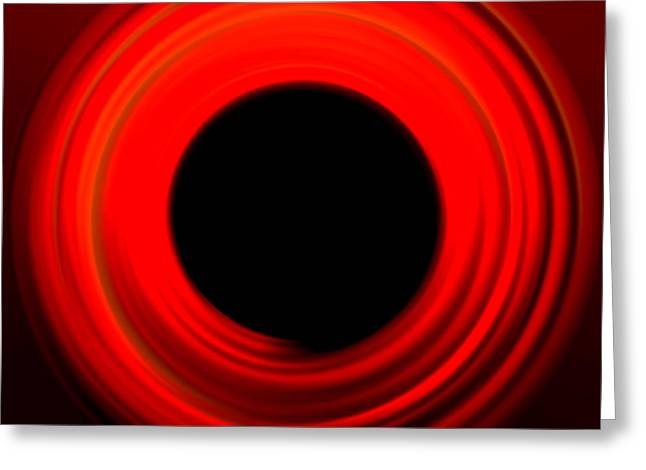 Red Abstract Circle Greeting Card