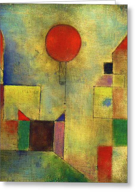 Red Balloon - Roter Ballon, 1922 Greeting Card