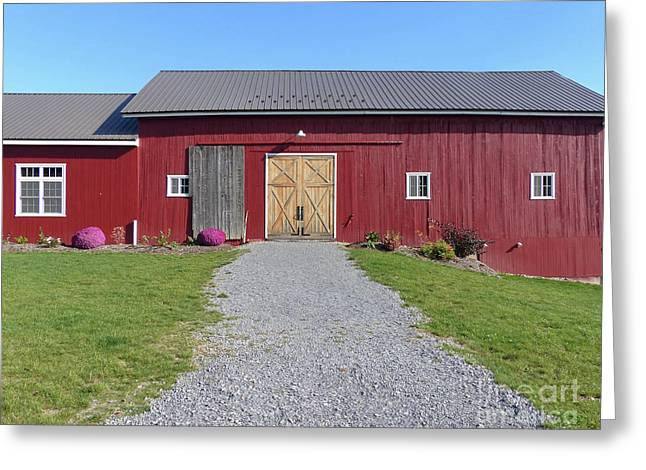 Greeting Card featuring the photograph Red Barn by Rosanne Licciardi