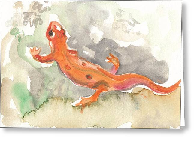 Red Eft Greeting Card