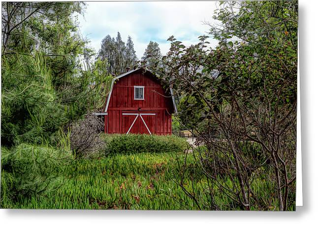 Red House Over Yonder Greeting Card