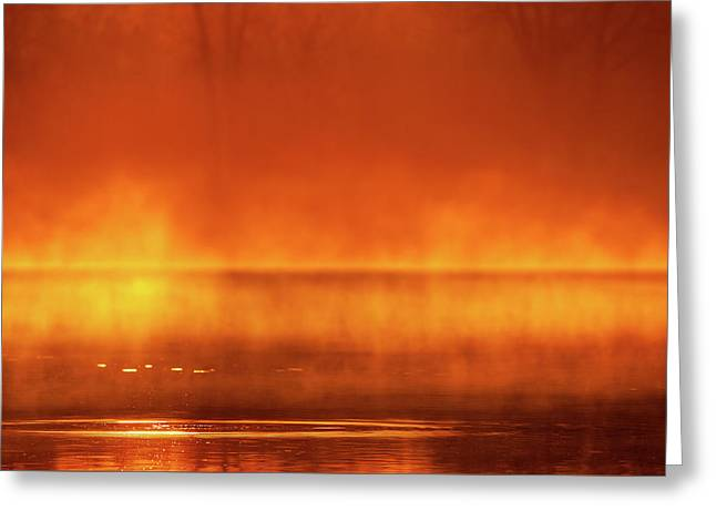 Greeting Card featuring the photograph Red Mist by Jeff Phillippi
