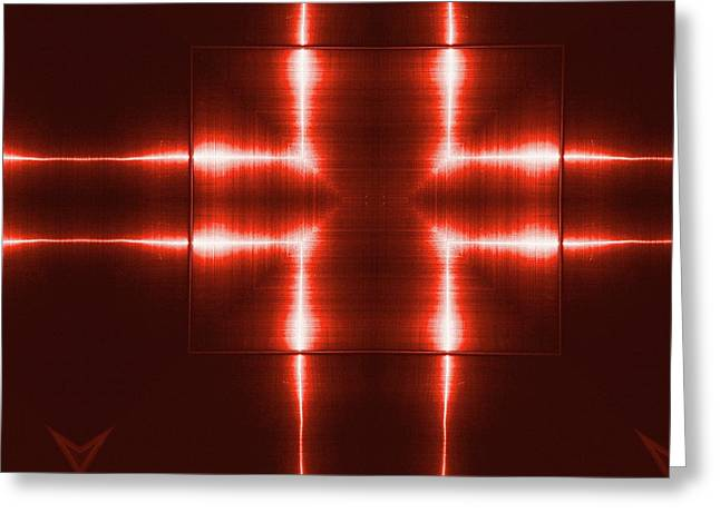 Red Reflecting Metallic Surface. Technological  Background.  Greeting Card