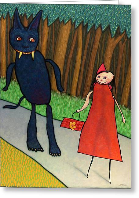 Red Ridinghood Greeting Card