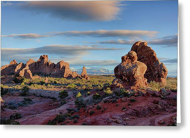 Red Rock Formations Arches National Park  Greeting Card