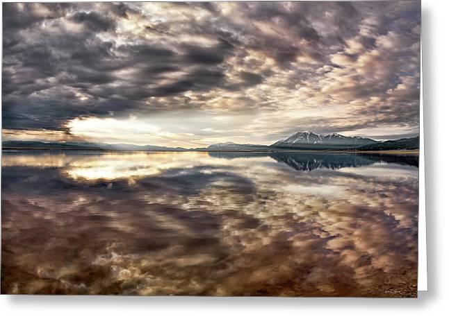 Red Rock Lake Sunrise Greeting Card by Leland D Howard