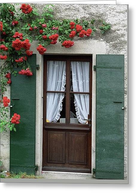 Red Rose Door Greeting Card