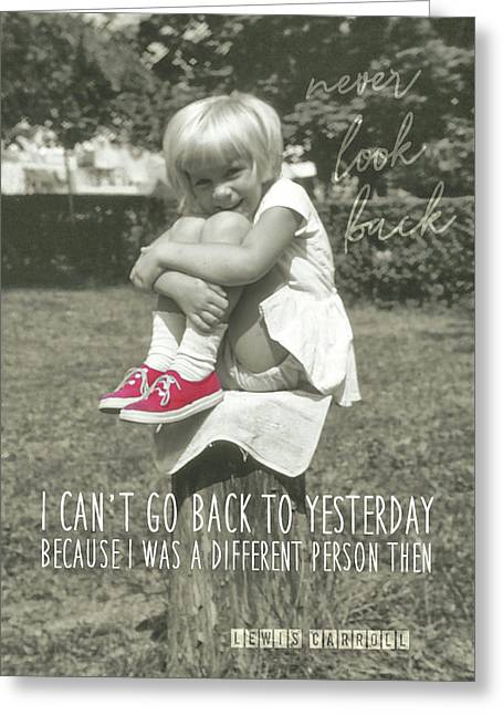 Red Sneakers Quote Greeting Card by JAMART Photography