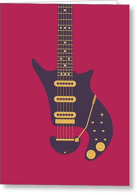 Red Special Guitar - Burgundy Greeting Card