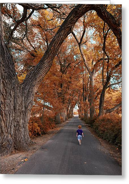 Redhead Fall Walkabout Greeting Card