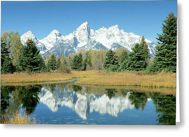 Reflection Of Mountains In Water, Grand Greeting Card