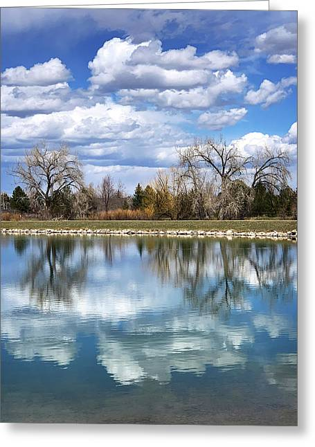 Reflections At Harper's Lake Greeting Card