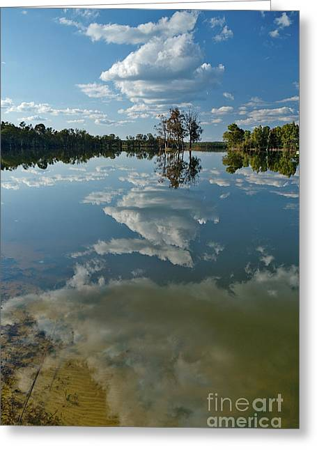 Reflections By The Lake Greeting Card
