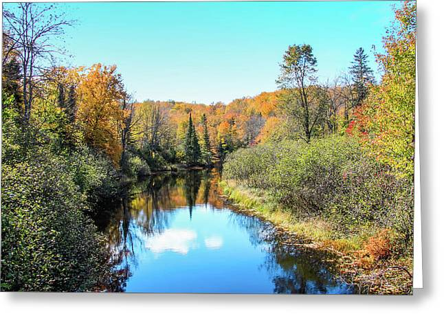 Reflections Of Fall In Wisconsin Greeting Card