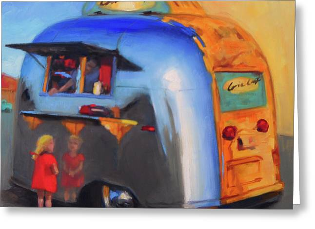 Reflections On An Airstream Greeting Card