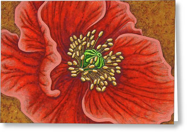 Greeting Card featuring the painting Regal Beauty by Amy E Fraser