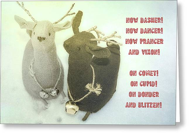 Reindeer Dash Quote Greeting Card by JAMART Photography