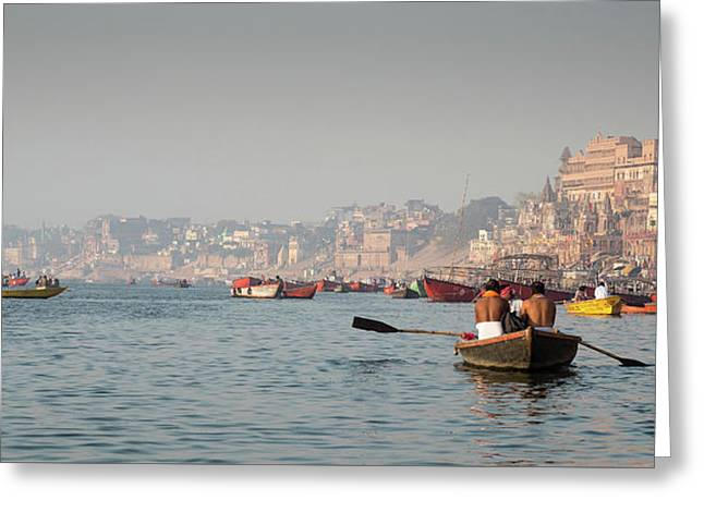 Greeting Card featuring the photograph Religious River Of Ganges In India by Michalakis Ppalis