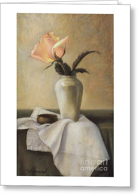 Remembered Rose Greeting Card by Pat Thompson