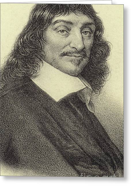 Rene Descartes, French Philosopher, Mathematician And Writer Greeting Card