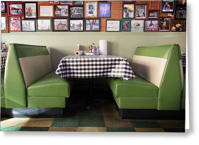 Restaurant Booth Greeting Card