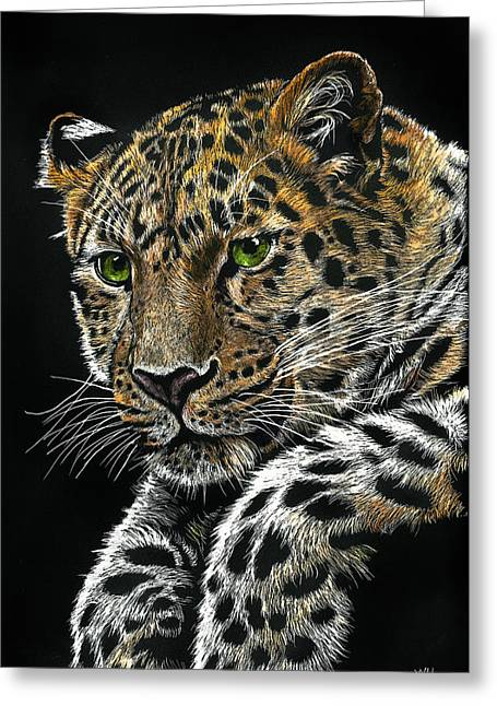 Resting Leopard Greeting Card