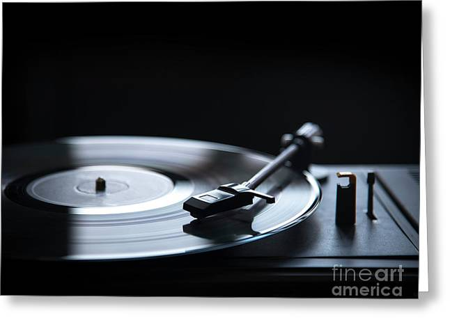 Record Player Greeting Cards Fine Art America