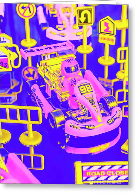 Retro Race Day Greeting Card