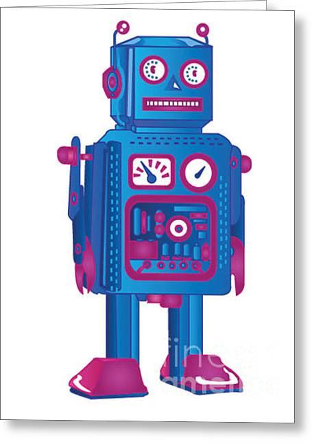 Retro Robot 1 Greeting Card