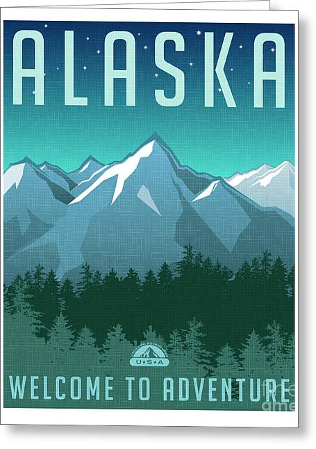 Retro Style Travel Poster Or Sticker Greeting Card