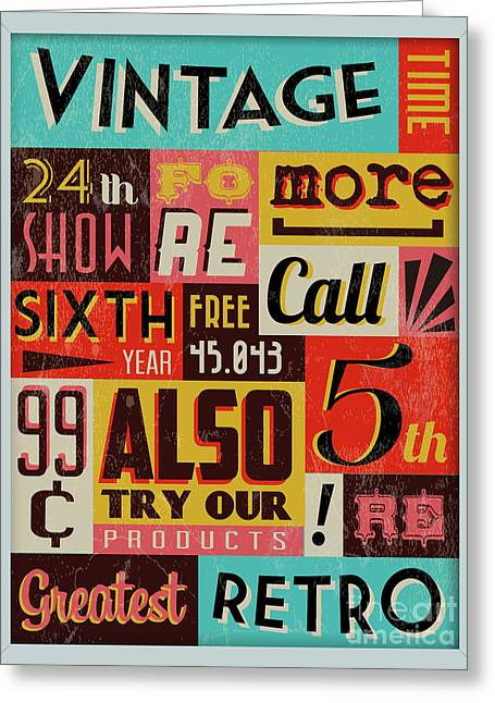 Retro Vintage Background With Typography Greeting Card