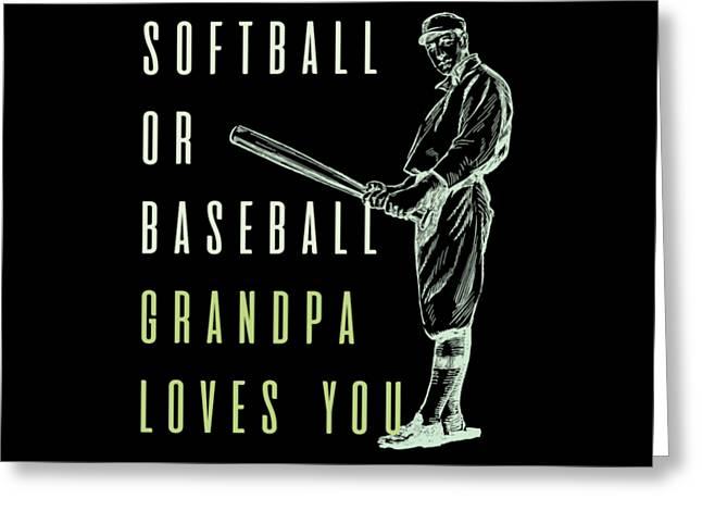 Reveal Shirt Softball Or Baseball Tshirt Greeting Card