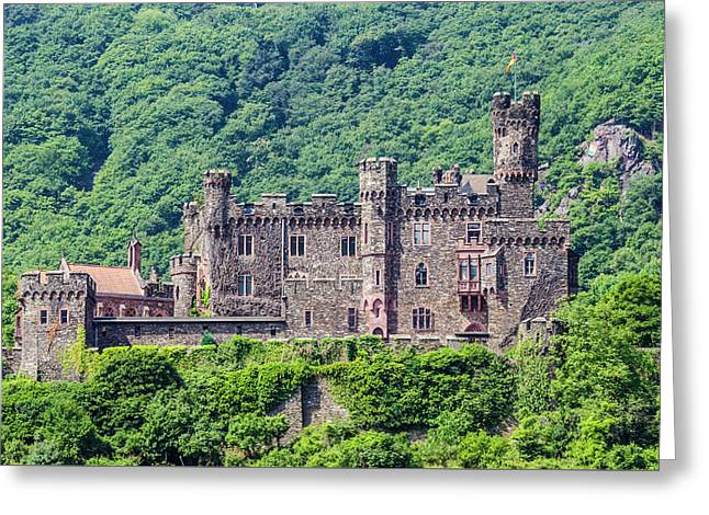 Rheinstein Castle - 2 Greeting Card