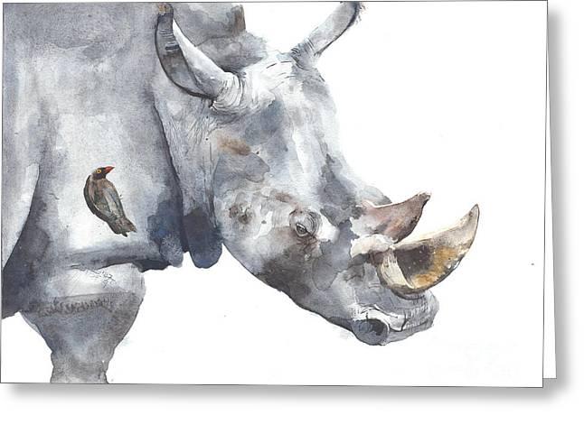 Rhinoceros Safari African Animal Greeting Card