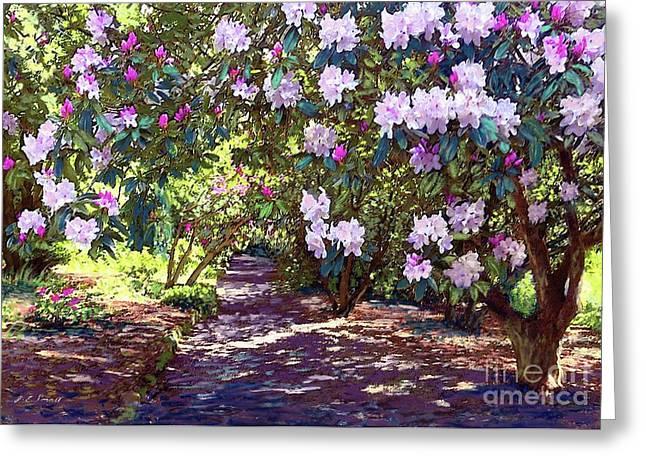 Rhododendron Garden Greeting Card
