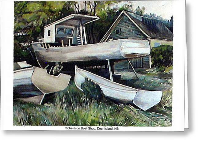 Richardson Boat Shop Greeting Card