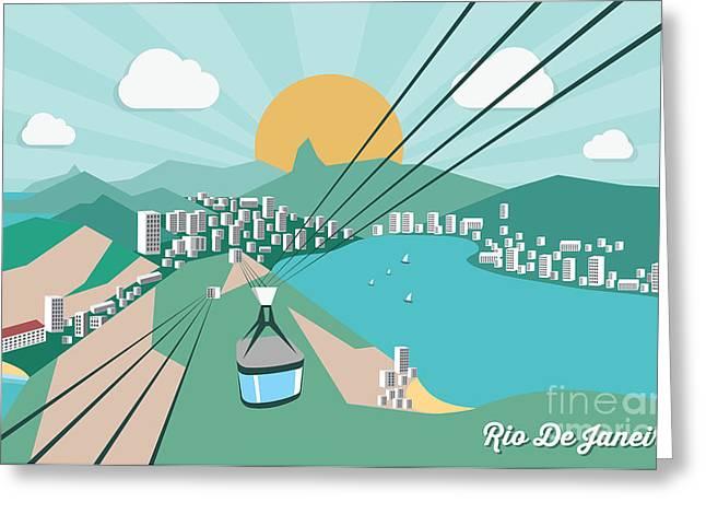 Rio De Janeiro - Vector Illustration Greeting Card