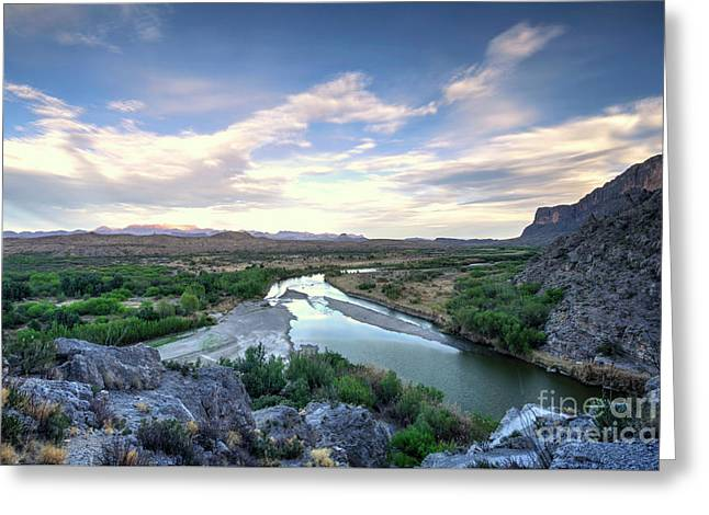 Greeting Card featuring the photograph Rio Grand River by Joe Sparks