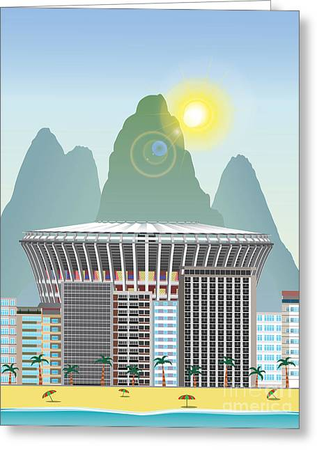 Rio Landmark Greeting Card by Nikola Knezevic
