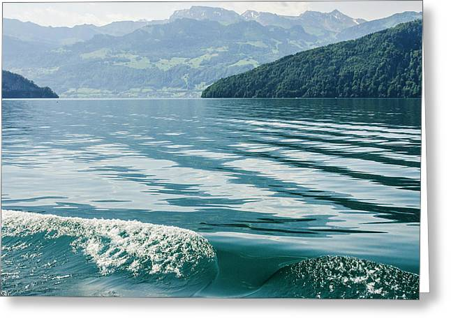 Ripples On Lake Lucerne Greeting Card