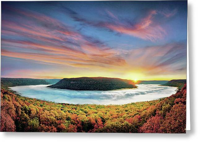 River Of Fog Greeting Card