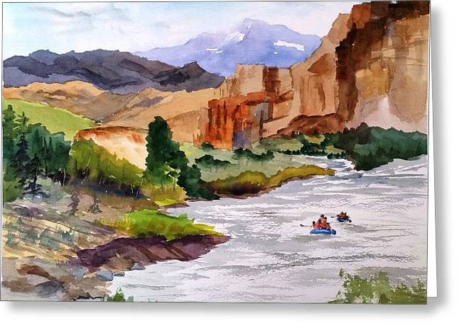 River Rafting In Montana Greeting Card