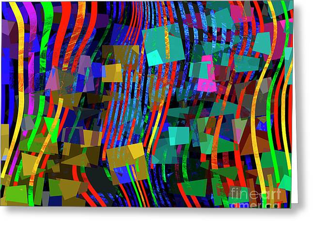 Greeting Card featuring the digital art Rivers Of Babylon by Edmund Nagele