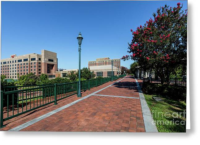 Riverwalk Downtown Augusta Ga Greeting Card