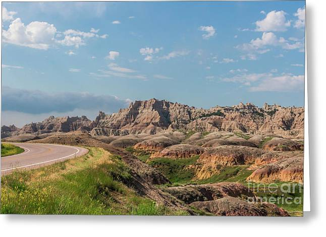 Road To The Badlands Greeting Card