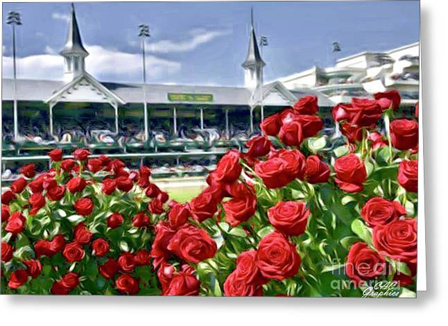 Road To The Roses Greeting Card