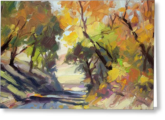 Greeting Card featuring the painting Roadside Attraction by Steve Henderson