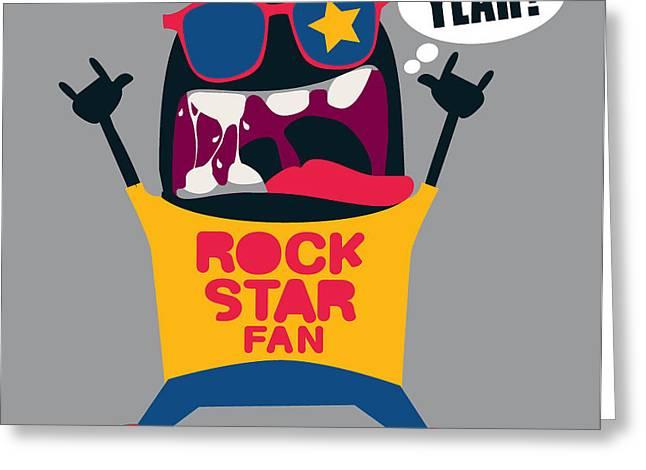 Rock Fan Monster Greeting Card