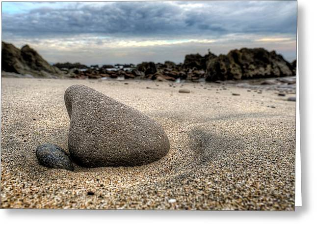 Rock On Beach Greeting Card